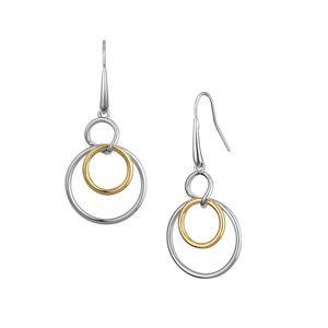 Earrings gold / silver